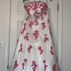 Strapless white dress formal
